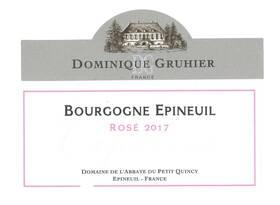 Domaine Dominique Gruhier - bourgogne epineuil  capucine - Rosé - 2018