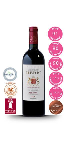 Château Meric - cru bourgeois médoc - Rouge - 2016