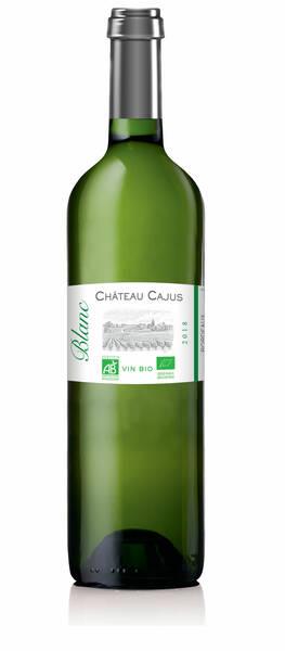 Château Cajus - bordeaux  sec bio - 2** et mention coup de coeur guide hachette - Blanc - 2019