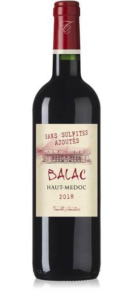 Château Balac - sans sulfites ajoutes - Rouge - 2018
