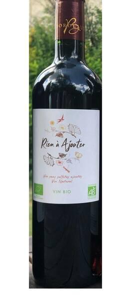 Château Cajus - rien à ajouter vin nature - Rouge - 2019
