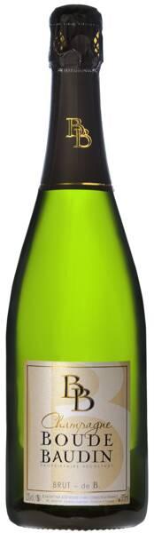 Champagne Boude-Baudin - brut de b - Pétillant
