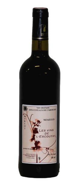Les Vins de l'Escoutay - noailles - merlot - Rouge