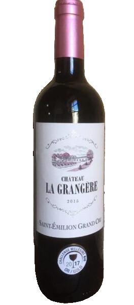 La Grangère - château   médaille or bruxelles & challenge millésime bio 2020 - Rouge - 2016