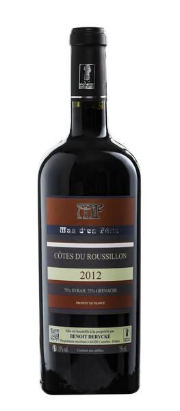 Mas d'en felix  - côtes du roussillon - Rouge - 2012