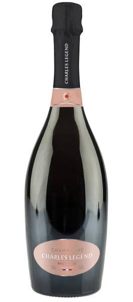 Champagne Charles Legend - cuvée brut rosé - Pétillant