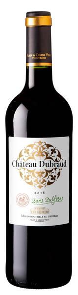 Château Dubraud     - dubraud, sans sulfites ajoutés - Rouge - 2018