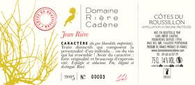 Domaine Rière Cadène - jean & fernand - Rouge - 2016
