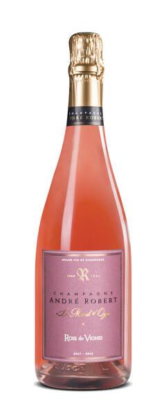 Champagne André Robert - rose de vignes - Pétillant