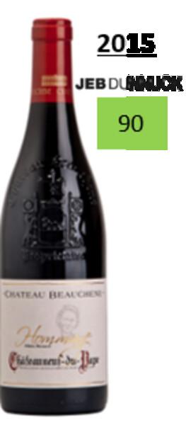 Château Beauchêne  - hommage à odette bernard - Rouge - 2015