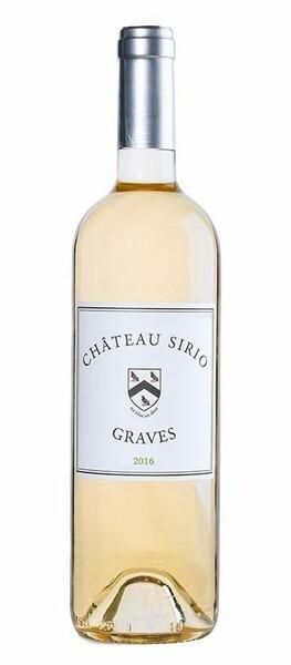 Château Sirio - médaille d'or au concours des vins de bordeaux 2019 - Blanc - 2017