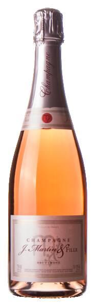 Champagne J. Martin & Fille - brut rosé - Pétillant