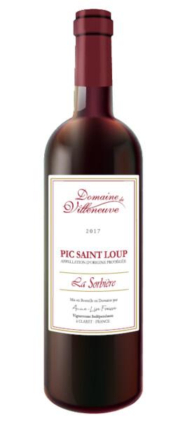 Domaine de Villeneuve - la sorbière aop pic saint loup - Rouge - 2018