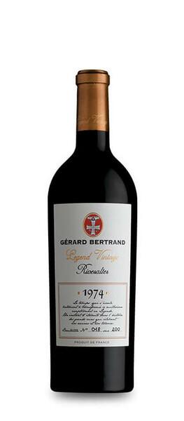 Château l'Hospitalet - legend vintage rivesaltes  vin rouge gerard bertrand - Liquoreux - 1974