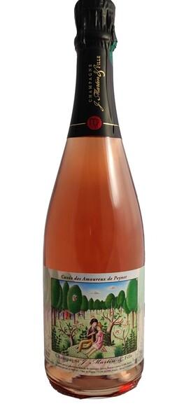 Champagne J. Martin & Fille - cuvée des amoureux de peynet - brut rosé - Pétillant