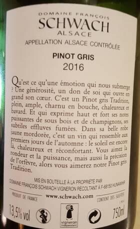 Domaine François Schwach - Pinot Gris - Blanc - 2018