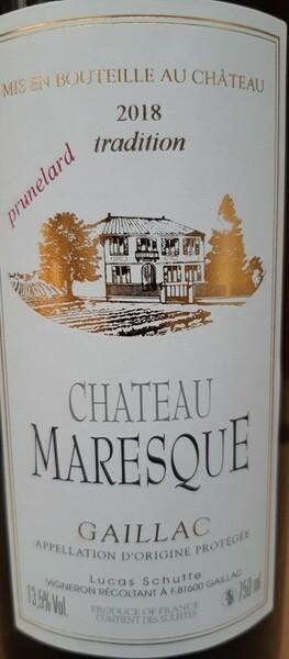 Château Maresque - prunelard - Rouge - 2018