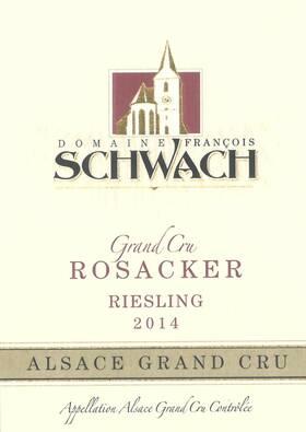 Domaine François Schwach - Riesling Grand Cru ROSACKER - Blanc - 2015