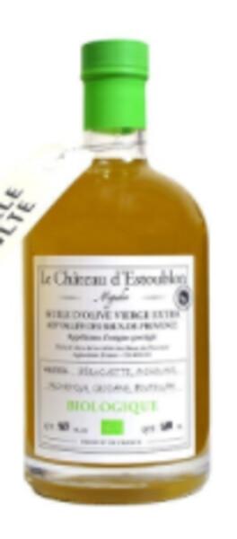 Château d'Estoublon - aop - huile d'olive vierge extra vallée des baux de provence bouteille apothicaire bio 50 cl - Blanc - 2019