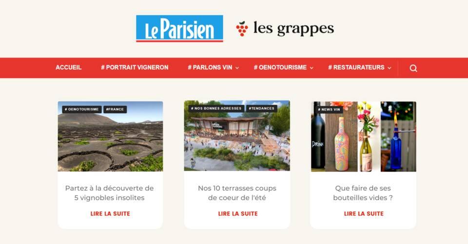 Le vin mis en avant sur LeParisien.fr