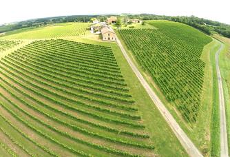 Vue aérienne du Domaine Falgueyret Leglise