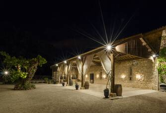 Château de Pech-Céleyran de nuit