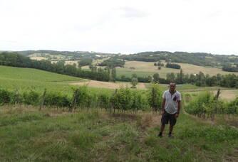 Didier Labat en haut du Moulin de Repassat
