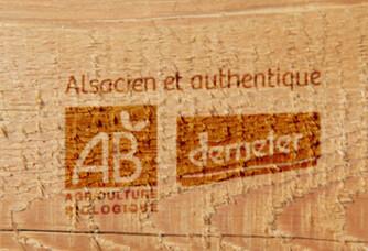 Logo Bio pour le vignoble des 2 lunes