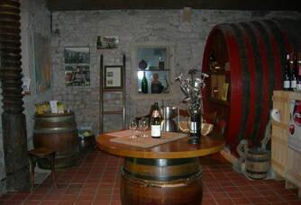 Le caveau de dégustation du Château Des Correaux
