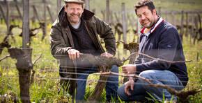 Château Gaby - Tom Sullivan dans les vignes