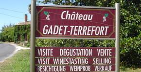 L'arrivée au château Gadet-Terrefort